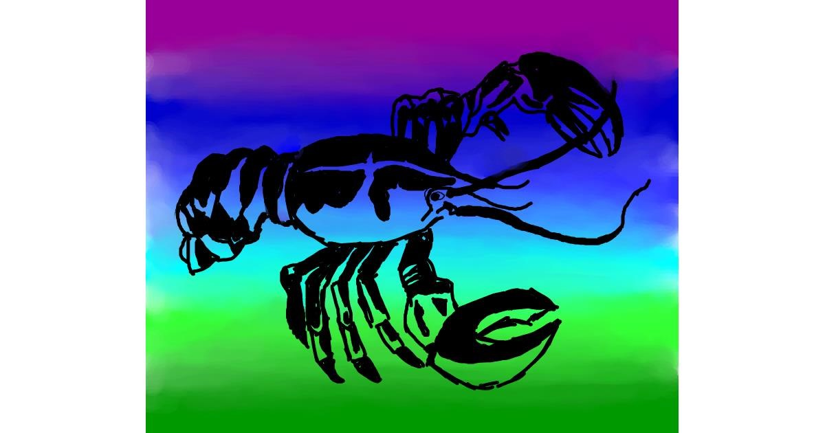 Drawing of Lobster by Autumn