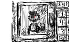 Microwave drawing by CranberryFarmer