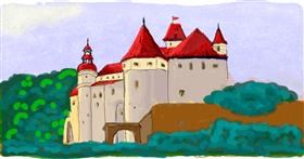 Castle drawing by Helena