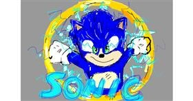 Sonic the hedgehog drawing by Boomer