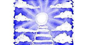 Drawing of Stairs by Cherri