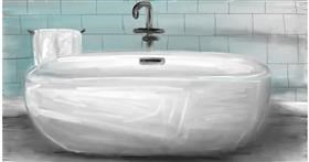 Bathtub drawing by Soaring Sunshine