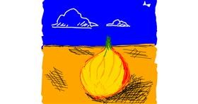 Onion drawing by Angel