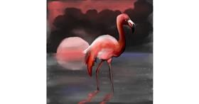 Flamingo drawing by Leah