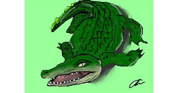 Alligator drawing by Brightpumpkin
