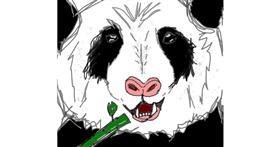 Panda drawing by Ardrevebryce