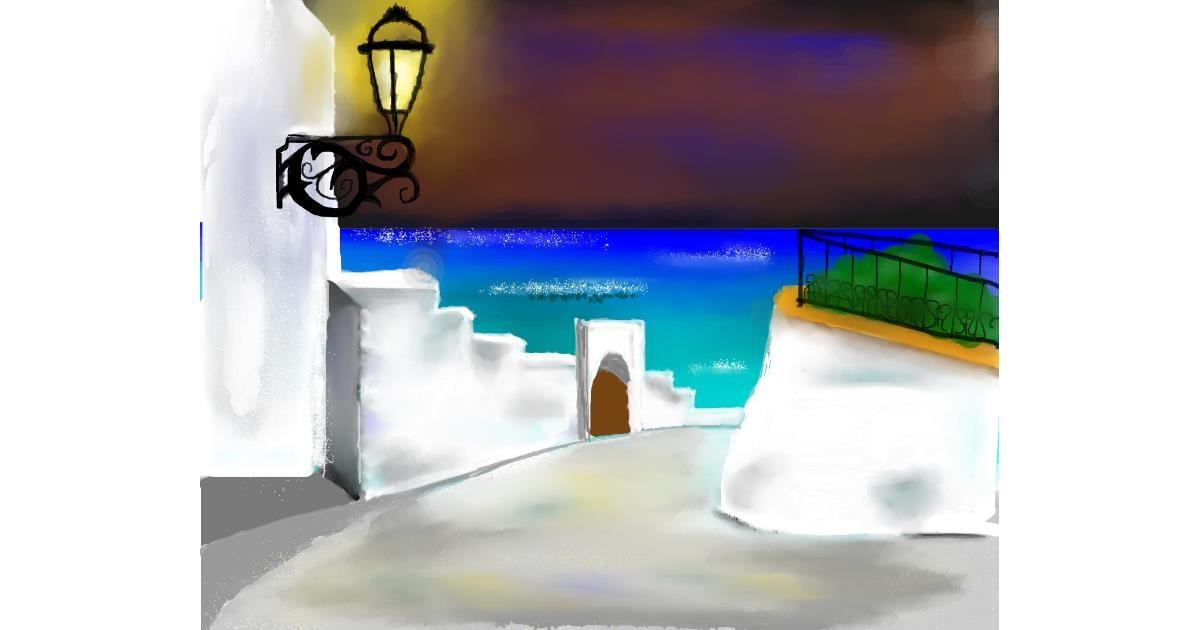 Lamp drawing by Mitzi