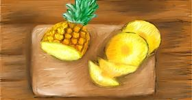 Drawing of Pineapple by Soaring Sunshine
