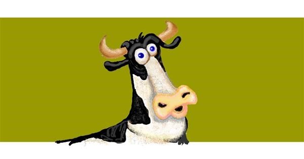 Cow drawing by Trapdoor