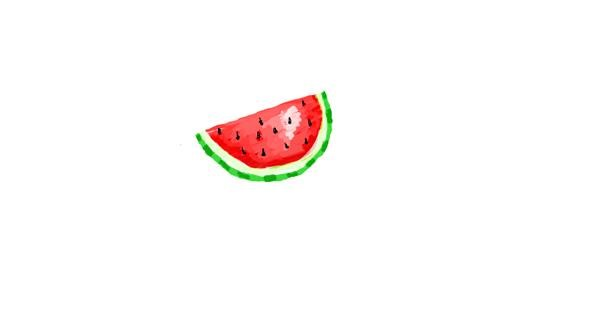 Watermelon drawing by coconut
