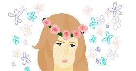 Drawing of Flower by Athena