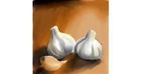 Drawing of Garlic by Bumblebee