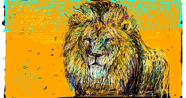 Lion drawing by Grey Goldfinch