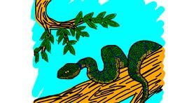 Snake drawing by Lilli