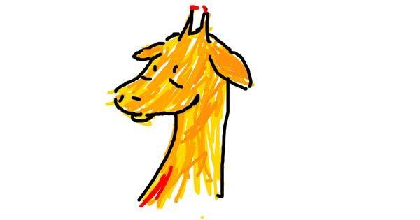 Giraffe drawing by circus foxy_FnafFAn ita08