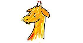 Drawing of Giraffe by circus foxy_FnafFAn ita08