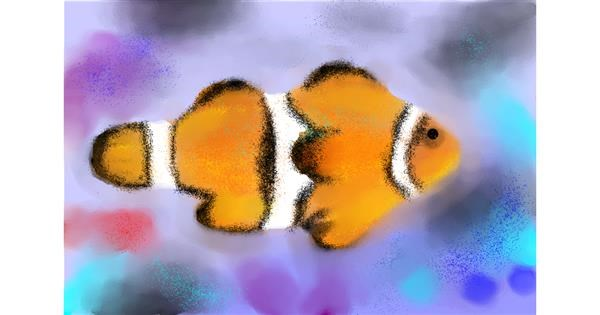 Clownfish drawing by :0