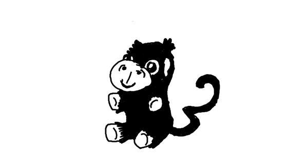 Monkey drawing by Sergeant
