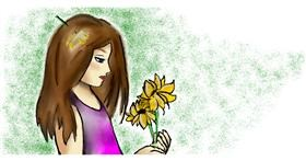 Flower drawing by Todoroki-kun