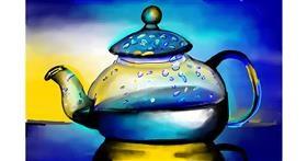Teapot drawing by Rose rocket