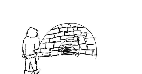Igloo drawing by madafaka