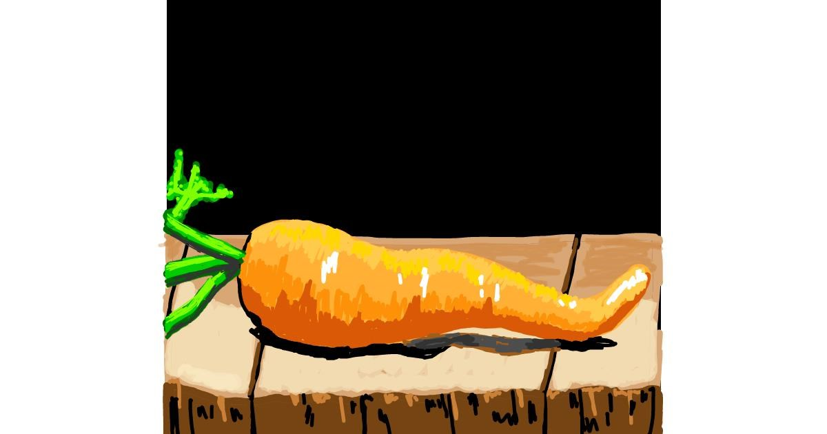 Carrot drawing by Geo-Pebbles