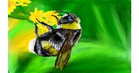 Bumblebee drawing by Soaring Sunshine