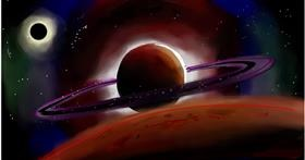 Drawing of Saturn by Ryu