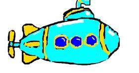 Submarine drawing by RUTLANLUIRHIMAY