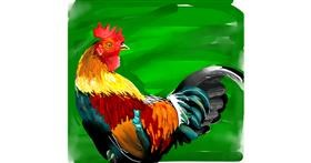 Rooster drawing by Rose rocket