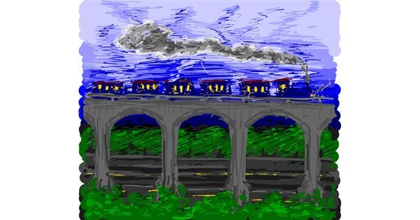 Train drawing by shinkinoko