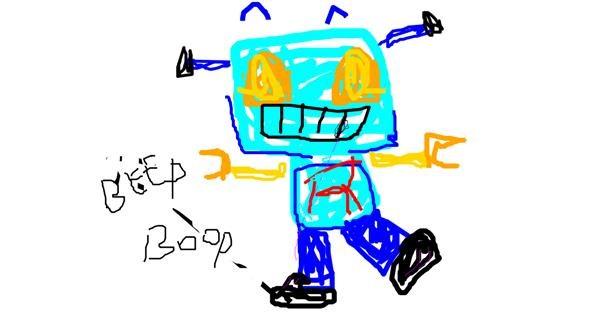 Robot drawing by JUSTSOMEDOOD
