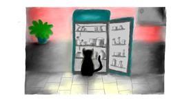 Drawing of Refrigerator by Sara