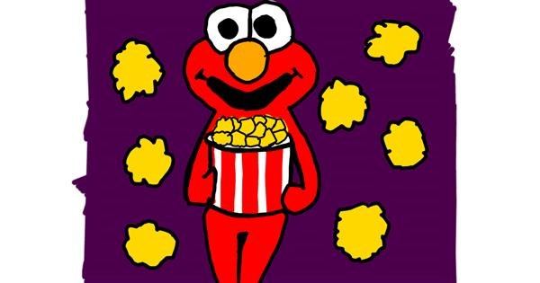 Popcorn drawing by MaRi