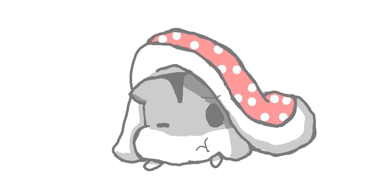 Drawing of Hamster by :/