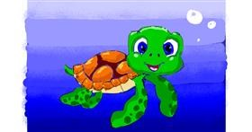 Sea turtle drawing by ThasMe13