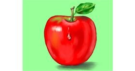 Apple drawing by Cec