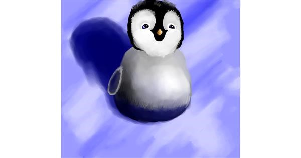 Penguin drawing by Joze