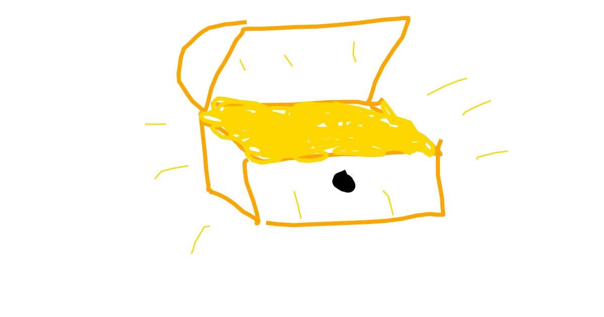 Drawing of Treasure chest by Crimson Ecstasy