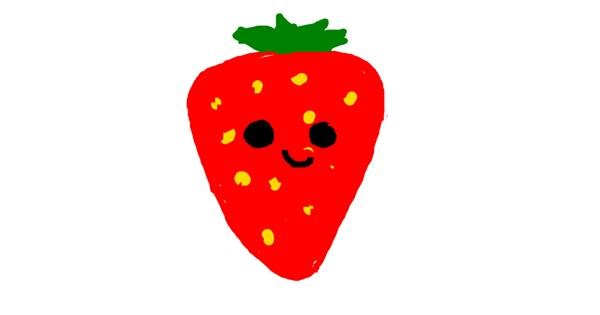 Strawberry drawing by Wolf