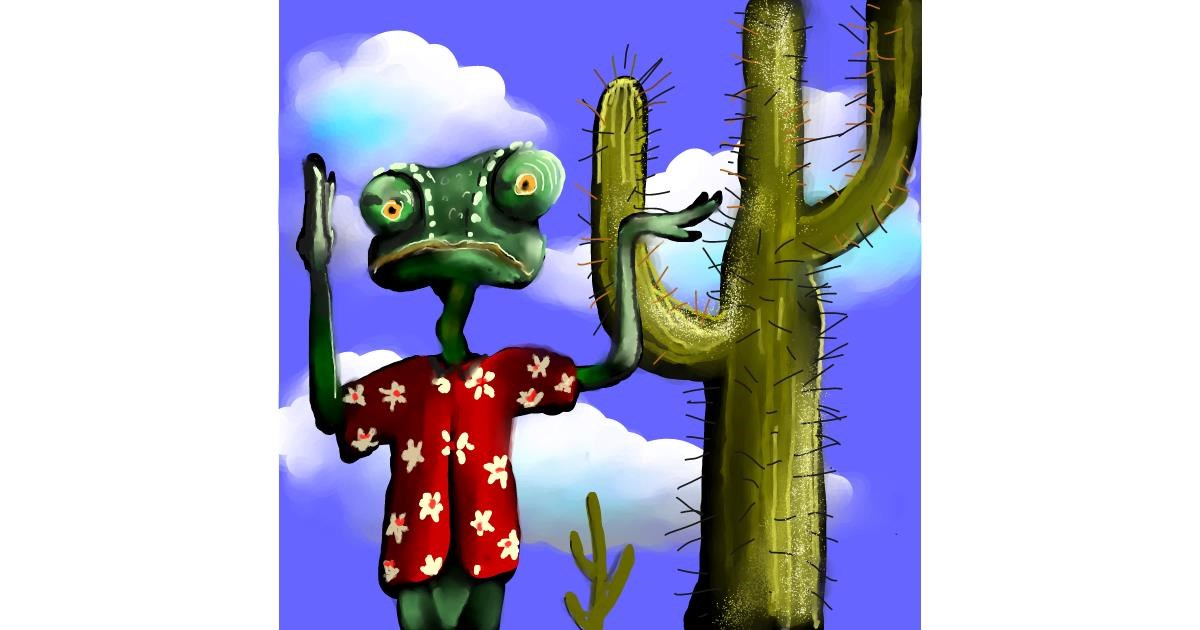 Cactus drawing by Leah