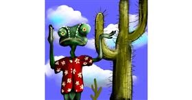 Drawing of Cactus by Leah