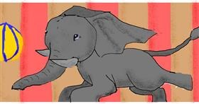 Elephant drawing by polidoll