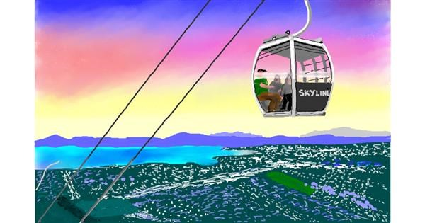 cable car drawing by GJP