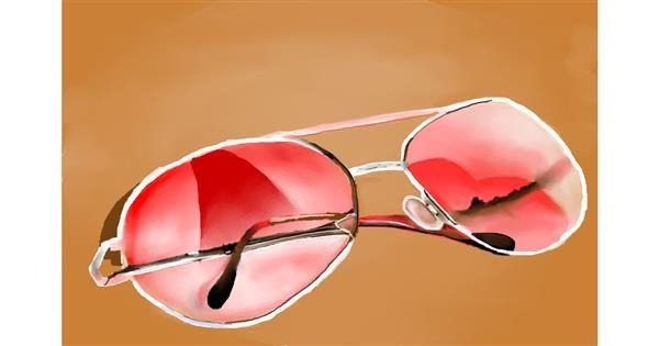 Sunglasses drawing by Mitzi