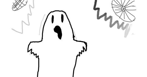Ghost drawing by Claudia