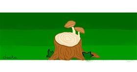 Drawing of Mushroom by Jackie
