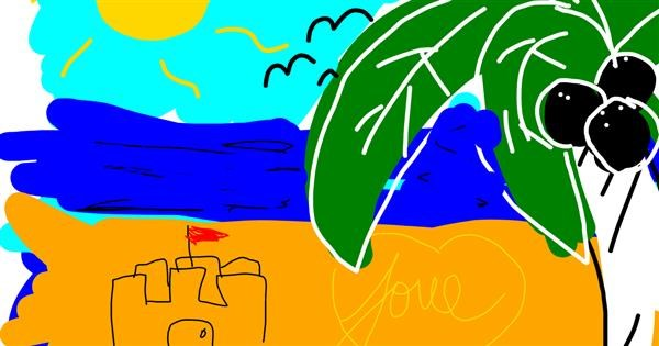 Beach drawing by That One Llama