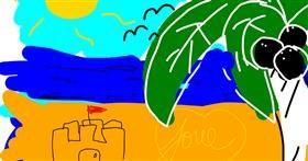 Beach drawing by That One Llama