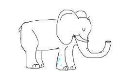 Elephant drawing by darkkai